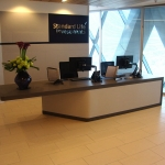 Zodiaq Quartz Reception Desk Gherkin London 1